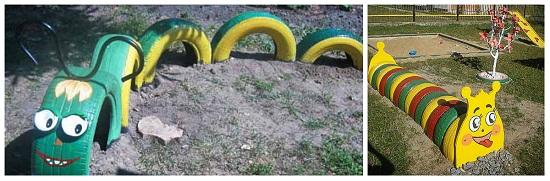 Детская площадка своими руками из колес