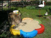 песочница из подручных материалов своими руками