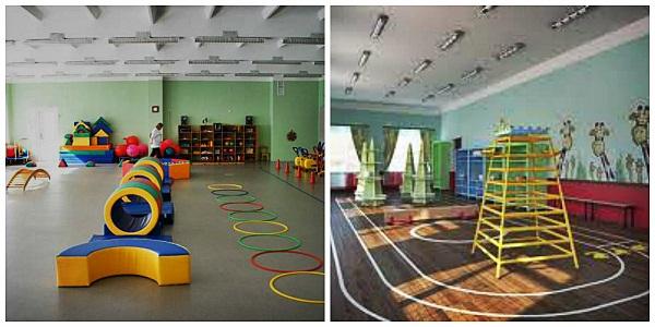 Зал в детском саду