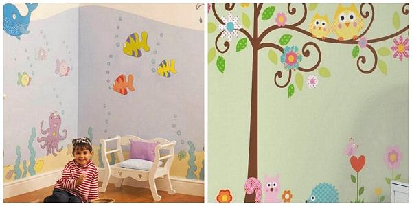 Оригинальное оформление стен в детском саду